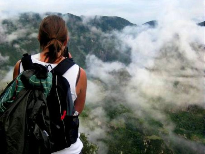 Above the clouds, waiting for the view