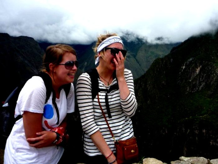Fun and laughs at Machu Picchu-favourite picture!