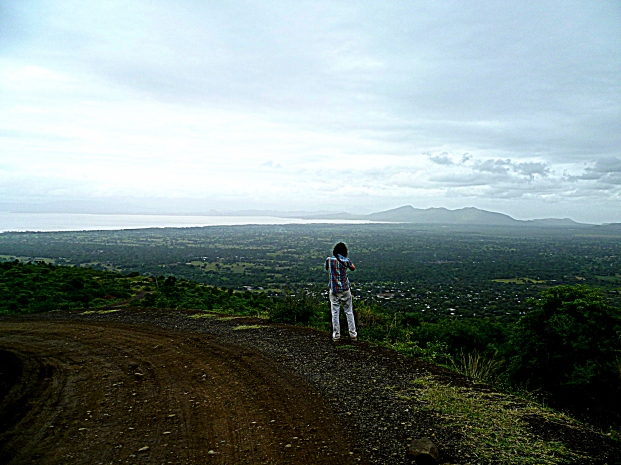 Arba Minch sits between two enormous lakes