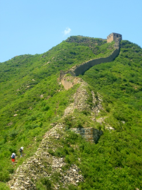 Some parts of the wall were incredibly steep, and slightly crumbling!