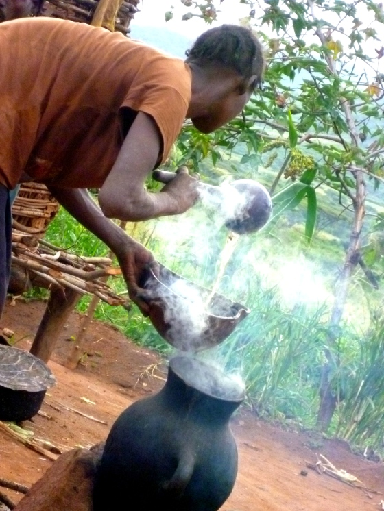 The water for the tea is kept boiling all day for top ups.