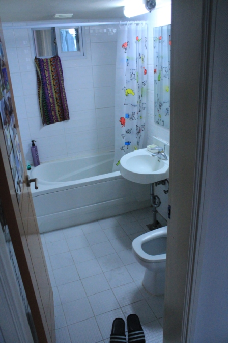 The bathroom, with bath!